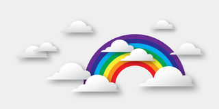 Clouds and rainbow. Royalty Free Stock Images