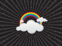 Clouds and rainbows Royalty Free Stock Photo