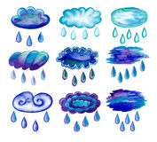 Clouds with raindrops. Royalty Free Stock Photography