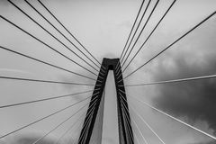 Clouds on the Ravenel Bridge, Charleston, SC. Royalty Free Stock Image