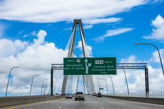 Clouds on the Ravenel Bridge, Charleston, SC. Royalty Free Stock Image