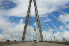 Clouds on the Ravenel Bridge, Charleston, SC. Stock Photography