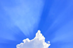 Clouds with rays Royalty Free Stock Image