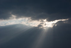 Clouds rays Stock Image