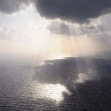 Clouds and rays of sun. Stock Photography