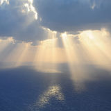 Clouds and rays of sun. Royalty Free Stock Photo