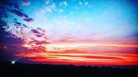 clouds red royaltyfri bild