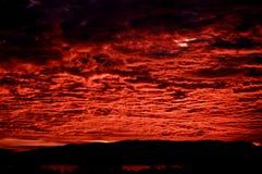 clouds red Royaltyfria Bilder