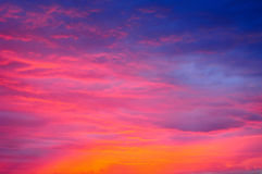 Clouds red sky. Clouds & red twilight sky, colorful spiritual background royalty free stock images