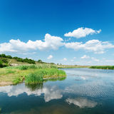 Clouds reflect in river Stock Photography