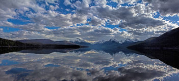 Clouds Reflected In A Lake Stock Image