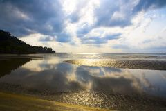 Clouds reflected on the sea Royalty Free Stock Photo