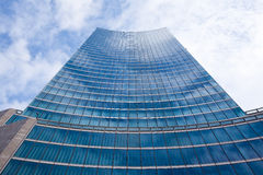 Clouds reflected in a skyscraper Royalty Free Stock Photography