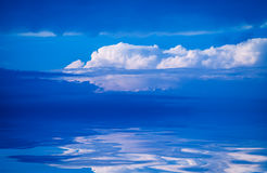 Clouds reflected in water. Royalty Free Stock Photography