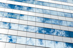 Clouds reflected in windows Stock Photos