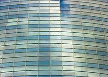Clouds Reflected in Windows of Modern Office Building Royalty Free Stock Photography