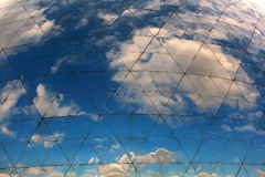 Clouds reflected in windows Royalty Free Stock Images