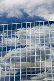 Clouds reflected in windows Stock Photo