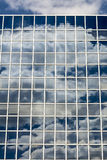 Clouds reflected in windows Stock Image