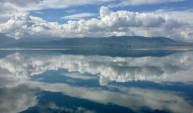 Clouds reflecting in Koycegiz Lake. Clouds reflecting on the surface of Koycegiz Lake, Turkey Stock Photos