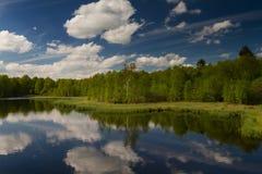 Clouds reflecting at the Lake Rotes Moor Royalty Free Stock Photo