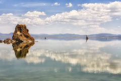 Clouds reflecting in Mono Lake, California, USA Stock Images