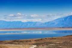 Clouds reflecting in surface of Great Salt Lake Royalty Free Stock Images