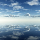 Clouds reflection Stock Images