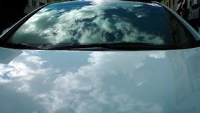 Clouds Reflection on the Car Royalty Free Stock Images