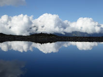 Clouds Reflection into the Lake Royalty Free Stock Photography