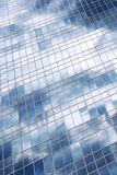 Clouds reflection in office building Stock Image