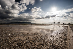 Clouds and reflection. Royalty Free Stock Photography