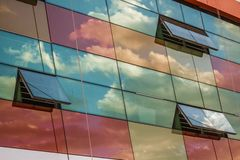 Clouds Reflections on Skyscraper Facade Stock Images