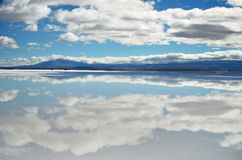 Clouds and reflections stock image