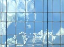 clouds reflexion Arkivfoto