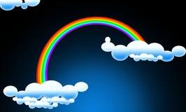 clouds regnbågen Royaltyfri Fotografi