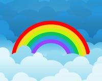 clouds regnbågen Royaltyfri Illustrationer