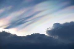 clouds regnbågsskimrande Royaltyfri Fotografi