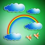 clouds regnbågen Royaltyfria Bilder