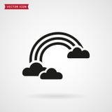 clouds regnbågen gears symbolen Royaltyfri Fotografi