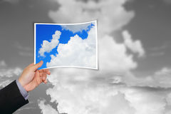Clouds rising up. From a picture Stock Images