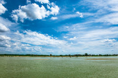 Clouds in a river Royalty Free Stock Image