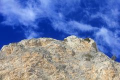 Clouds on the rocks. A panorama with clouds on the rocks Royalty Free Stock Images