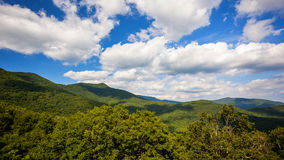 Clouds Roll Past Scenic Mountains of Blue Ridge Parkway in Ashev Stock Image