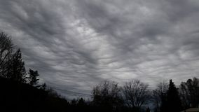 Clouds rolling in royalty free stock photography