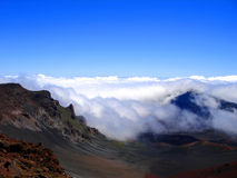 Clouds rolling into Haleakala, Maui, Hawaii Royalty Free Stock Image