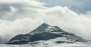 Clouds rolling over mountains in Arctic stock video footage