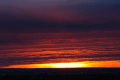 clouds rosy sky sunrise Στοκ Εικόνες