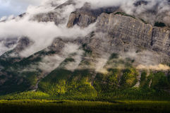 Clouds rundle mountain banff canada Stock Photos