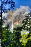 Clouds at Salto Angel in the national park of Canaima Royalty Free Stock Photo